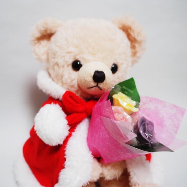 【クリスマス限定】メロディサンタベア【ピンク】・3本