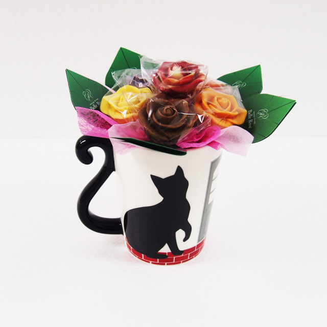 【NEW】猫ハウスマグカップ(片足上げ)・6本