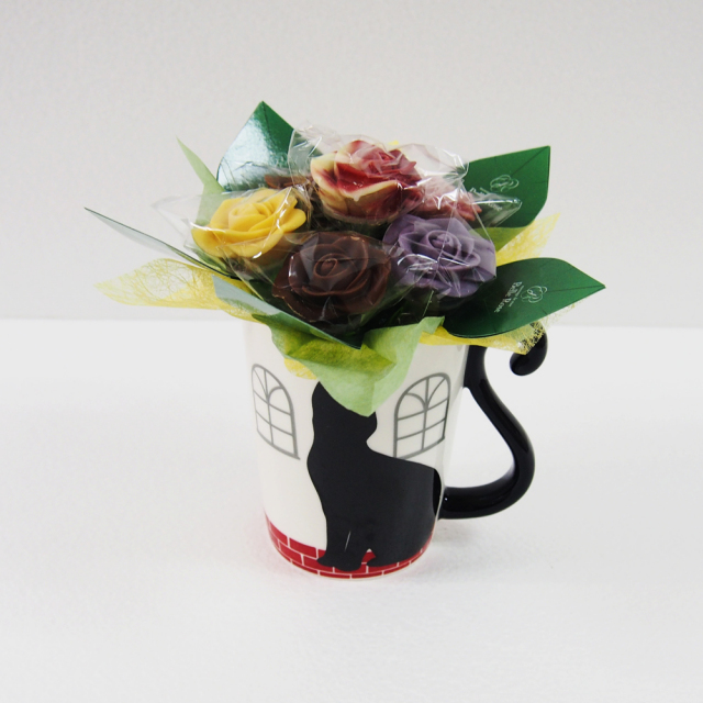 【NEW】猫ハウスマグカップ(正面)・6本