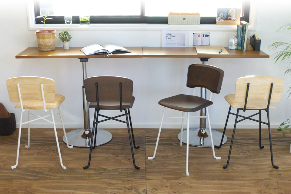 ジミニーチェアXウッド、木製、カフェ、ダイニングチェア