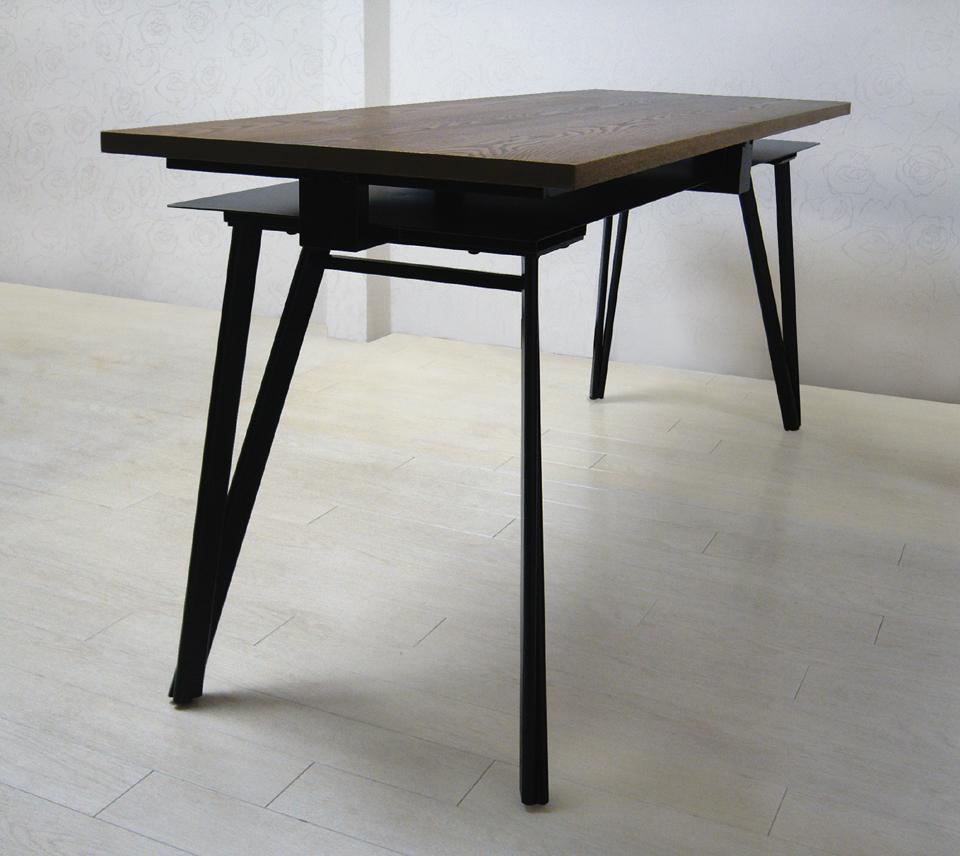 ダイニングテーブル シャットアペーパーXタモ 斜め角