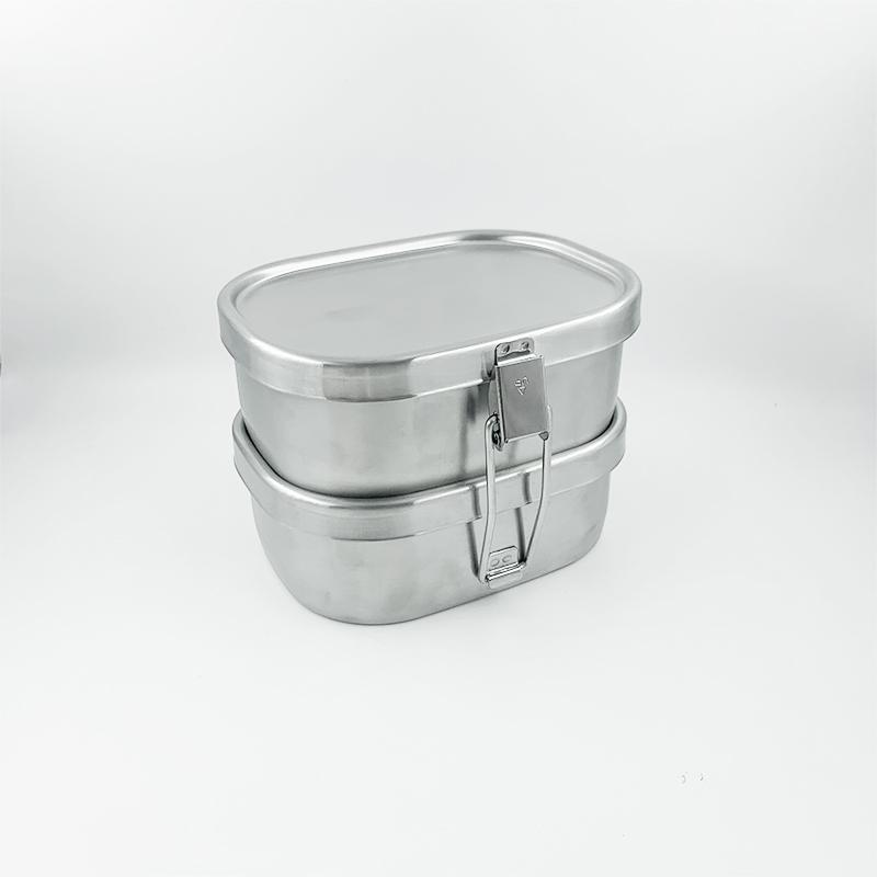 ステンレス製お弁当箱『角型ランチボックス 小2段』