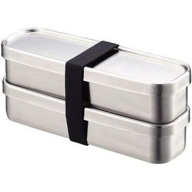 ステンレス製お弁当箱『角長ランチボックススリム2段』