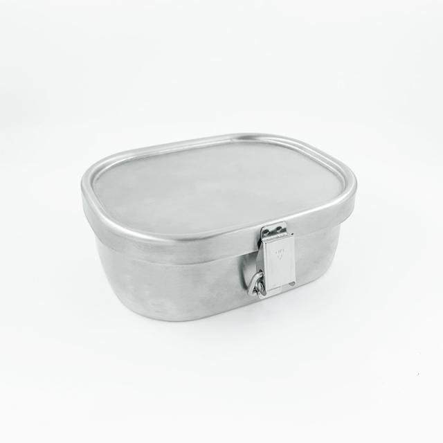 ステンレス製お弁当箱『角型ランチボックス 小1段』