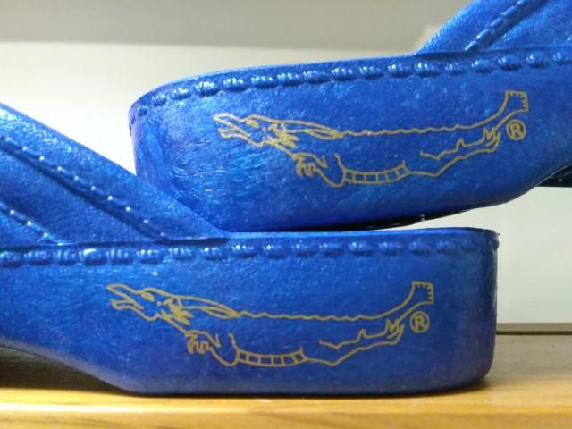 PEARL ギョサン サンダル MEZAMELL『龍』 海 サイズ 4L  ブルー