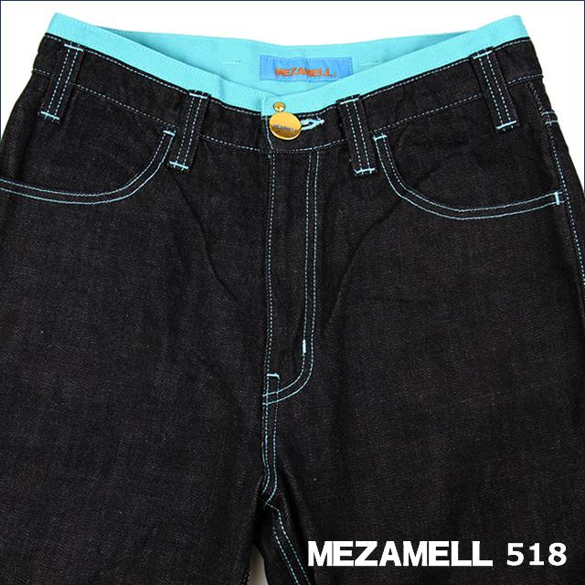 MEZAMELL メザメル 【JEANS 518】 28インチ  ~青空 太陽~空色のジーンズ
