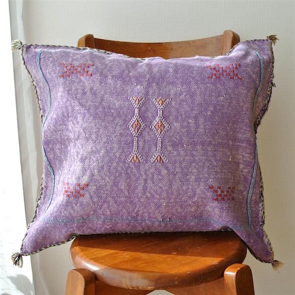 クッションカバー 紫
