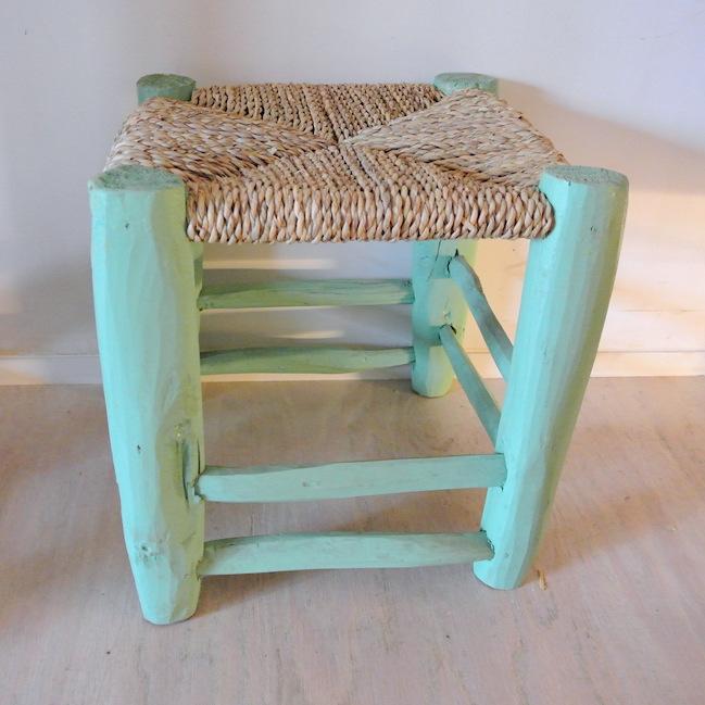 木椅子 ミントグリーン