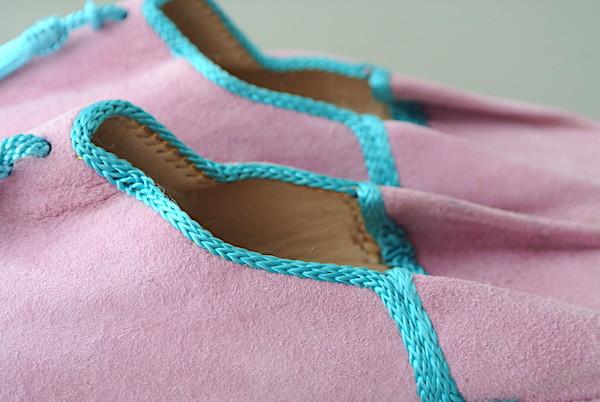 外履きバブーシュ ピンク