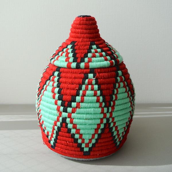 ベルベルバスケット 赤緑
