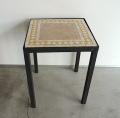 モザイクタイルテーブル黄色