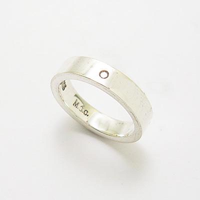 シンプルダイヤモンドピンキーリング[MGCPKR-019]