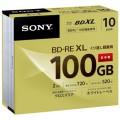 ソニー SONY bd bluray ブルーレイ メディア BDメディアRE3層10枚 10BNE3VCPS2 大容量 100GB 繰り返し録画 25GB デジタル放送対応 1〜2倍速 インクジェット対応 3層 10枚