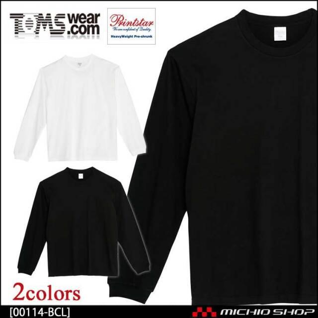 TOMS トムス Printstar プリントスター ヘビーウェイトビッグLS-Tシャツ 00114-BCL