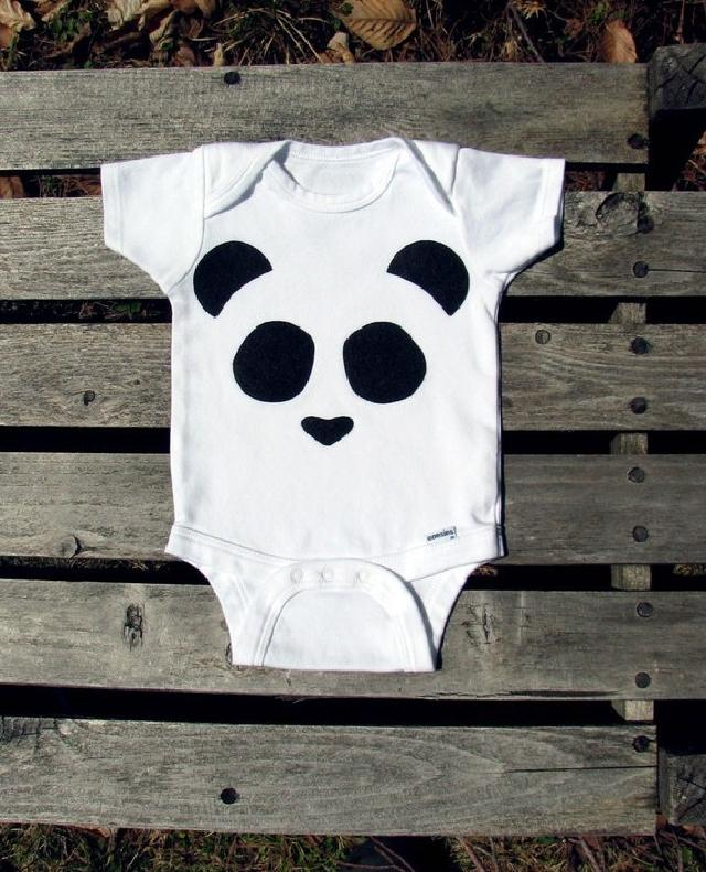 パンダ柄ロンパース♪可愛いくておもしろい海外デザイン♪Newborn-24months