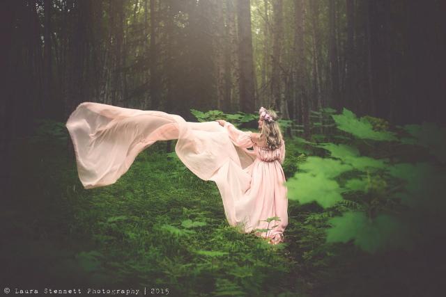 リリアンドレス●ヴィンテージスタイルのシアーシフォンマタニティドレス