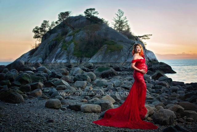 【スリムフィット】キャサリンドレス●シフォンドループスリーブのマタニティドレス