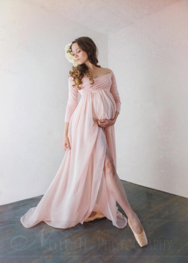 パトリシアドレス●ロングスリーブのルネサンスマタニティドレス