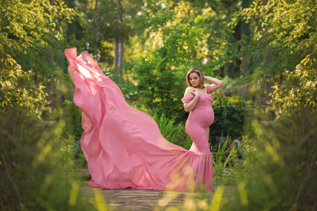 アンジェラドレス●スリムフィットのマーメイドスタイルマタニティドレス