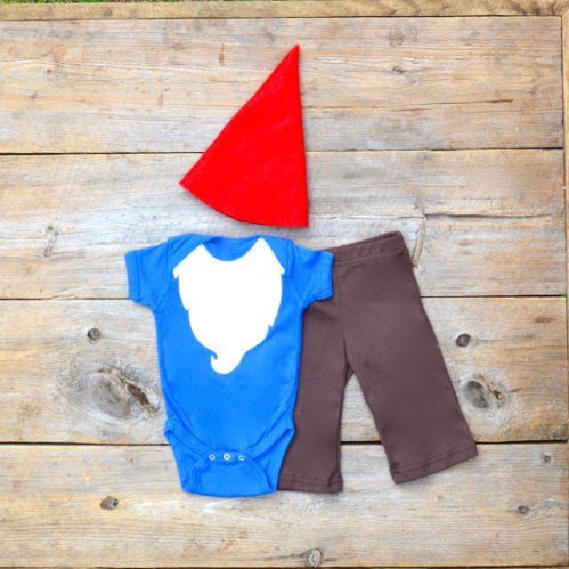 ♪ひげのこびとさん帽子ズボン付き♪ロンパース♪可愛いくておもしろい海外デザイン♪Newborn-18months