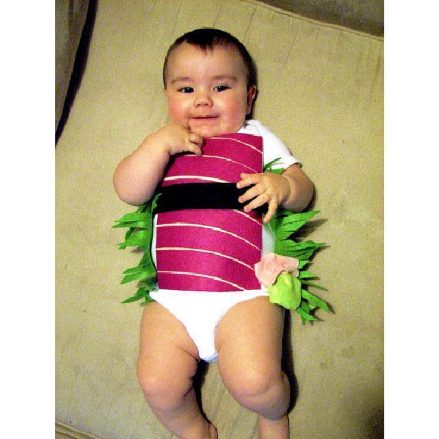 ハロウィンコスチュームお寿司柄♪ロンパース♪可愛いくておもしろい海外デザイン♪Newborn-24months