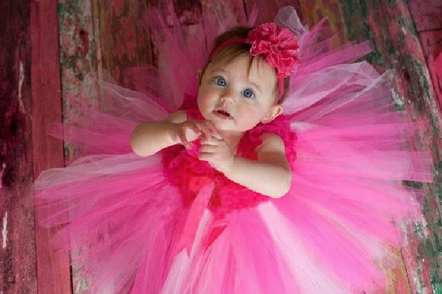 フクシャ&ライトピンク☆鮮やかでガーリーなチュチュドレス