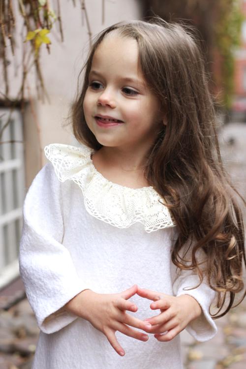 まるで天使♪真っ白ウールワンピース9months−6才【EUデザイナーから直送】【送料込】
