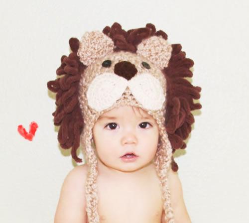 とびきり可愛いベビーのライオン帽子☆newborn-5才