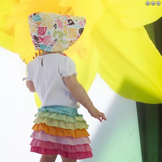 おおきなつばのリバーシブルサンハット・日よけ帽子 ベビー・こどもの動きをとことん配慮!glimpse