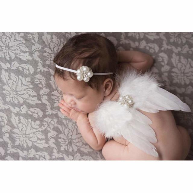 天使の羽根&ヘアバンドセット ニューボーンサイズ