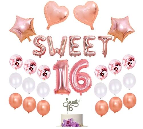 Sweet16バルーン☆風船 パーティーデコレーション 「sweet sixteen(スイートシックスティーン、スイート16)」
