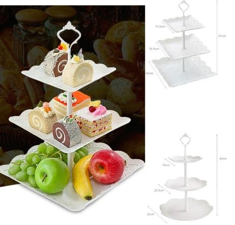 3段のケーキスタンド ハイティースタンド