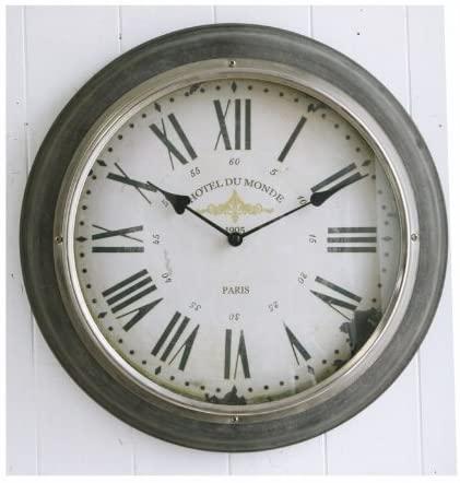 シルバーリム・ウォールクロック  アンティーク調 壁掛け時計 インテリア