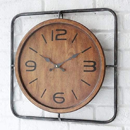 インダストリアル・クロック  掛け時計 アンティーク調 木製