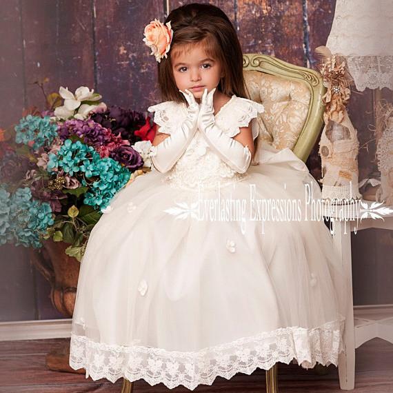 優雅な天使のドレス「Exquisite Angel Flower Girl Dress」1歳から12歳