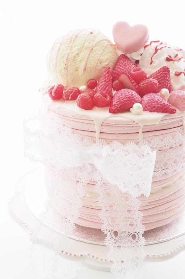 フェイクスイーツ ストロベリーパンケーキ