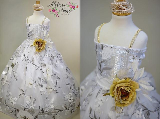 特別な日のための花のドレス「Floral Special Ocassion Girls Dress」3歳から10歳