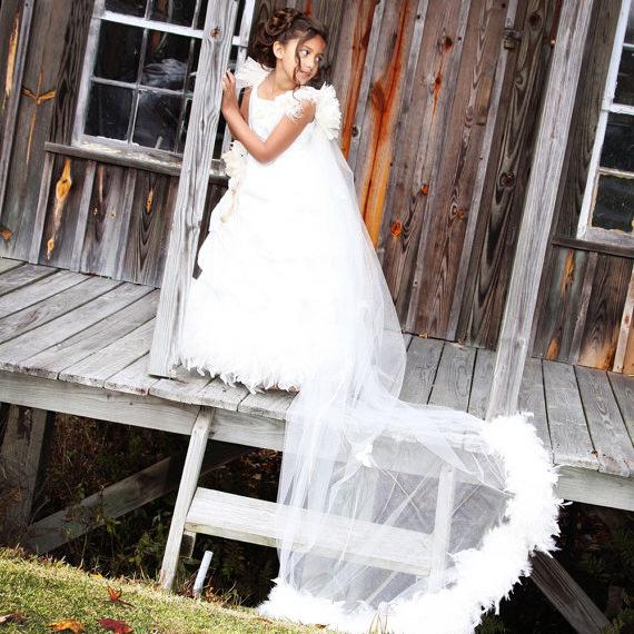 フォーエバードリームドレス「Forever Dreams Flower Girl Dress w Optional Trail」1歳から12歳