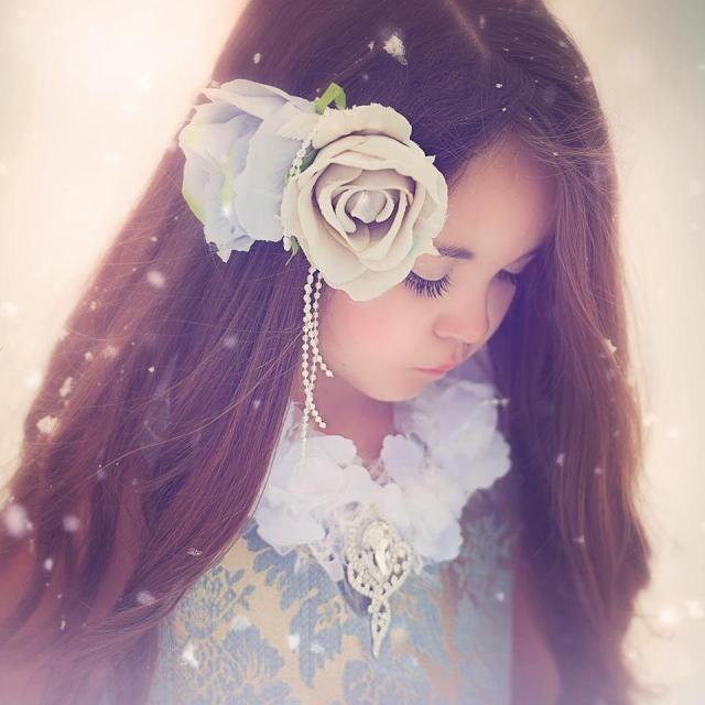 雪の女王風ドレス「Frozen In time Girls Dress」2歳から10歳