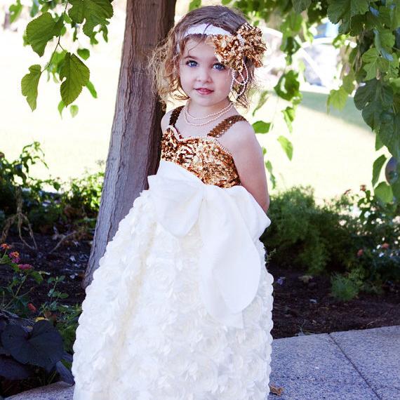 スウィートハートプリンセスロゼットドレス「Girls Sweetheart Princess Rosette Dress」1歳から8歳