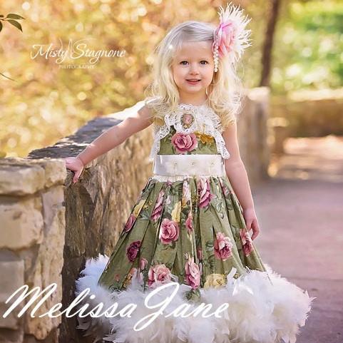 風と共に去りぬ~ヴィンテージレトロクラシック フェザードレス「Vintage Retro Classic Gone with the Wind Feather Dress」1歳から6歳