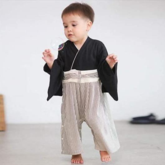 袴ロンパース男の子着物