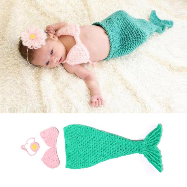リトルマーメイド♪かぎ針編みの小さな人魚コスチュームセット