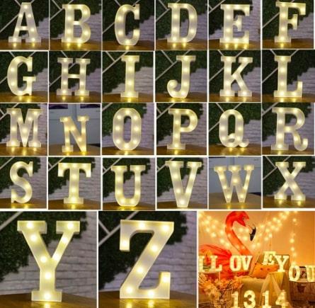 かわいいメッセージライト アルファベット・数字・ハート「sweet sixteen(スイートシックスティーン、スイート16)」