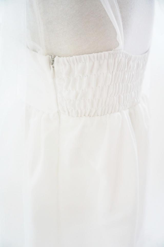 プリンセスフェザーラインのピュアホワイトなガールズドレス「ミシアン」