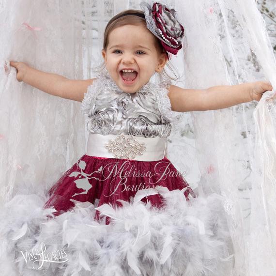 ミラクルガールズ フェザードレス「Miraculous Girls Feather Dress」1歳から8歳