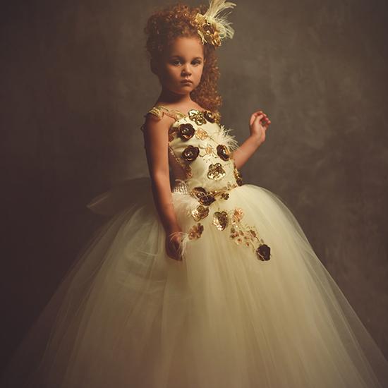 オルレナ~優雅なチュールドレス「Orlena - Exquisite Tulle Flower Girl Dress」1歳から10歳