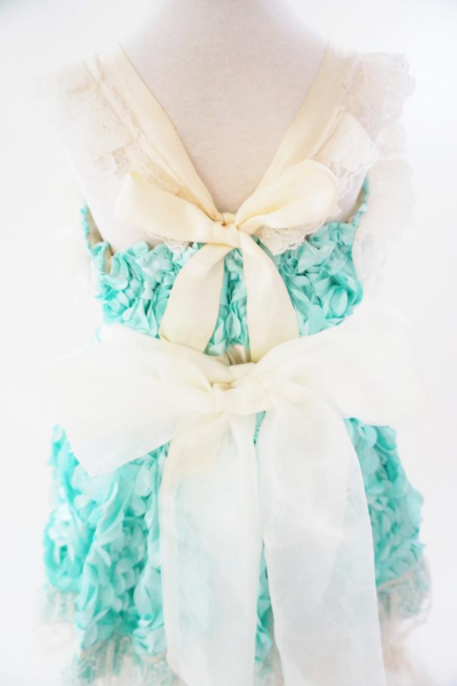 可愛いアクアミントのフェザードレス 「Otoha♡」