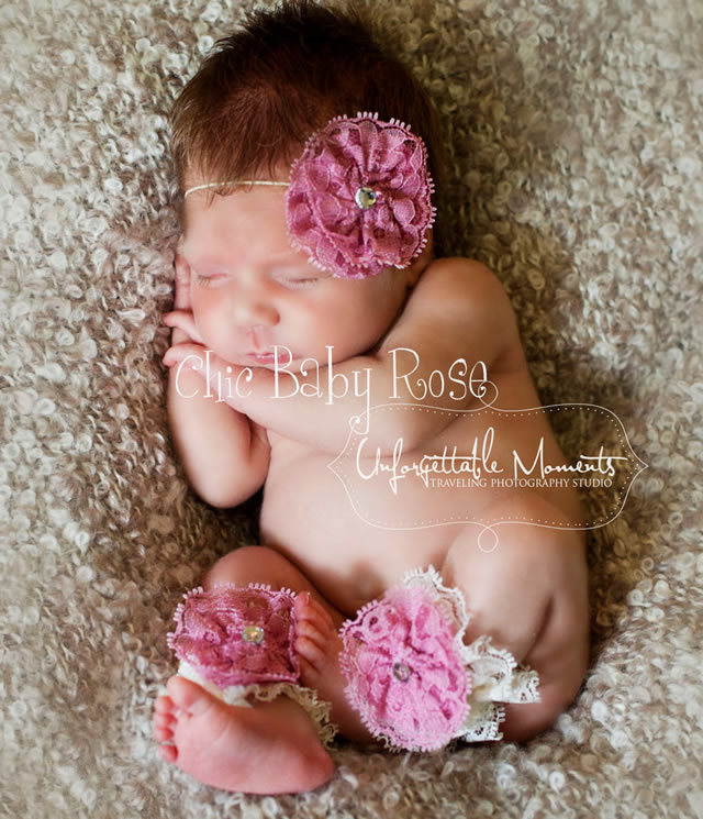 ベビーレースレッグアクセサリー☆カラフルベビーロンパースとお揃い♪全21色☆newborn・出産祝い