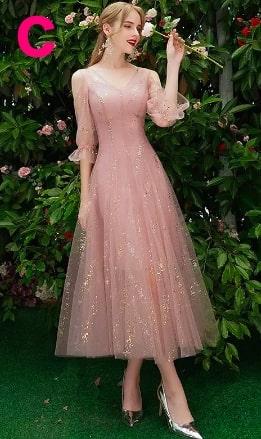 美しいレースのAラインパーティードレス「sweet sixteen(スイートシックスティーン、スイート16)」<ピンク>